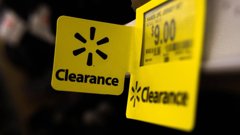 Walmart clearance tag