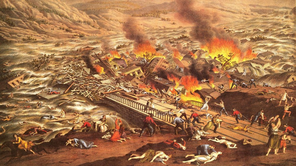 The Great Conemaugh Valley Disaster -- Flood & Fire at Johnstown, Pa
