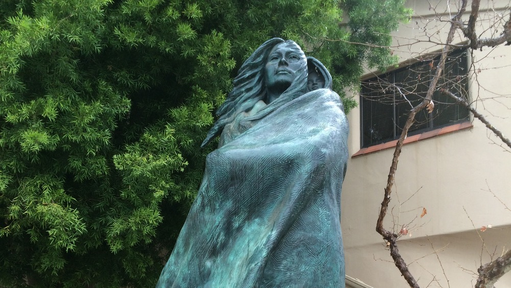 Statue of lone woman of San Nicolas Island