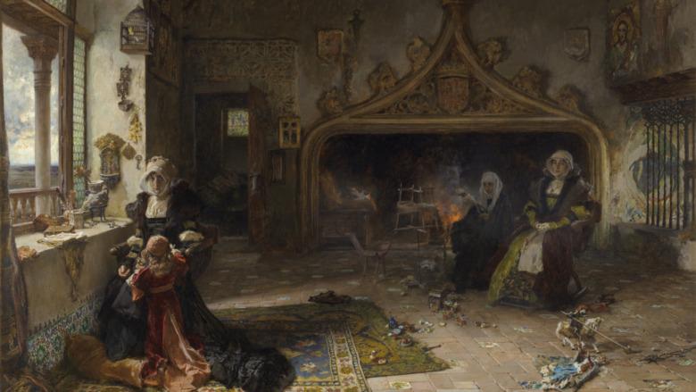 Joanna the Mad, or Juana la Loca, in a 20th century painting