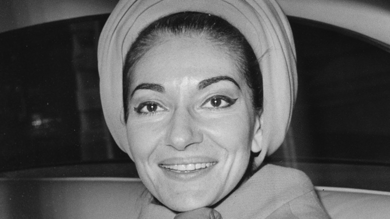 Maria Callas looking to the side