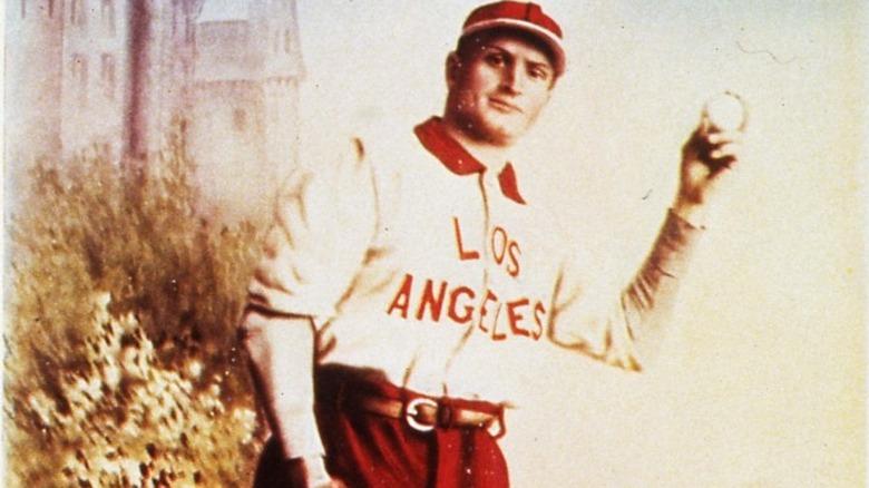 Rube Waddell holding baseball