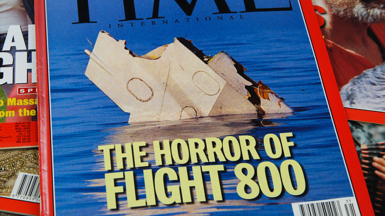 Cover of Time Magazine showing TWA Flight 800 wreckage
