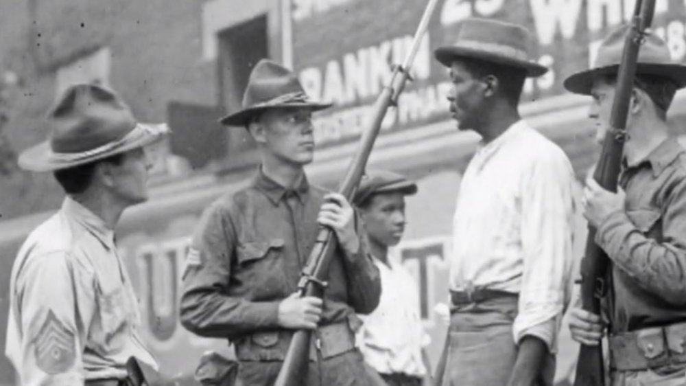 A black man stands off against state militia in 1919's Red Summer race riots