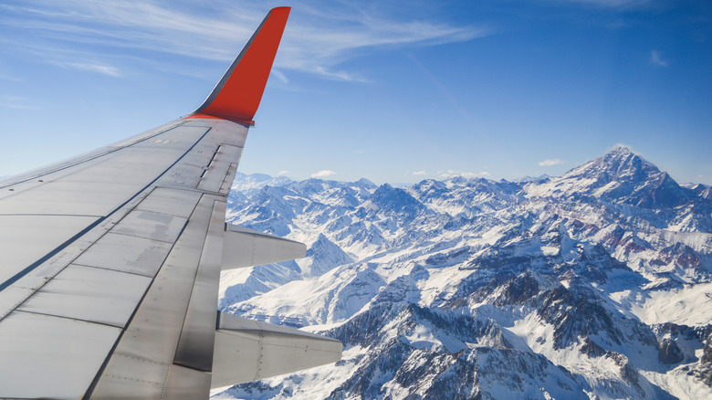 airplane over andes