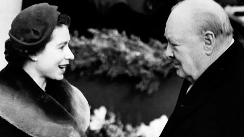 Queen Elizabeth and Winston Churchill