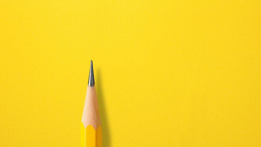 The iconic, graphite-tipped yellow pencil