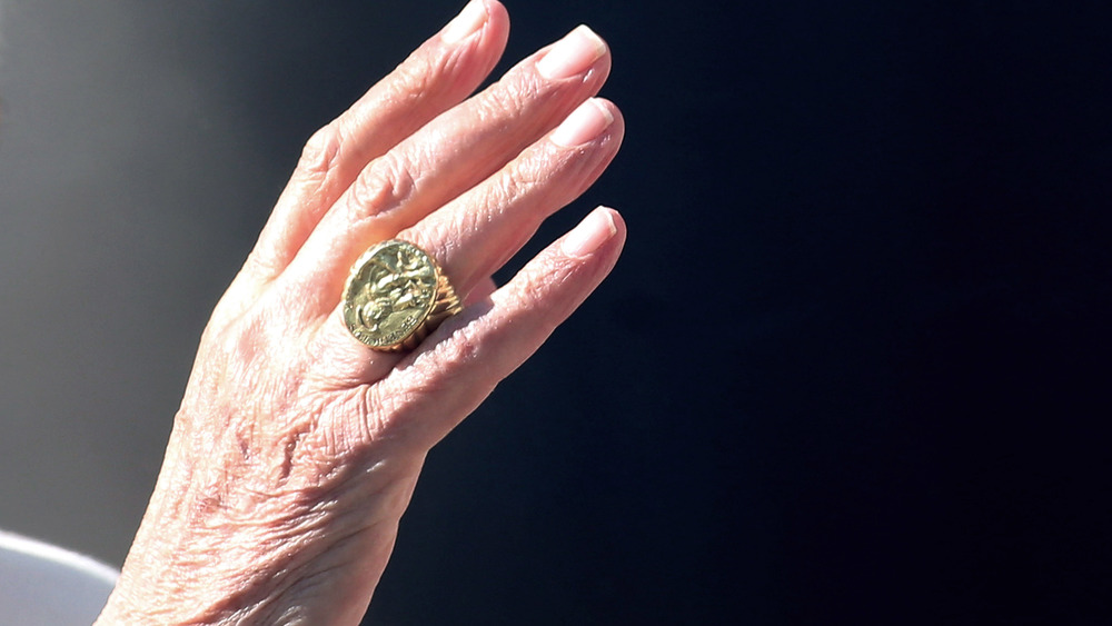 Pope's hand bears papal ring