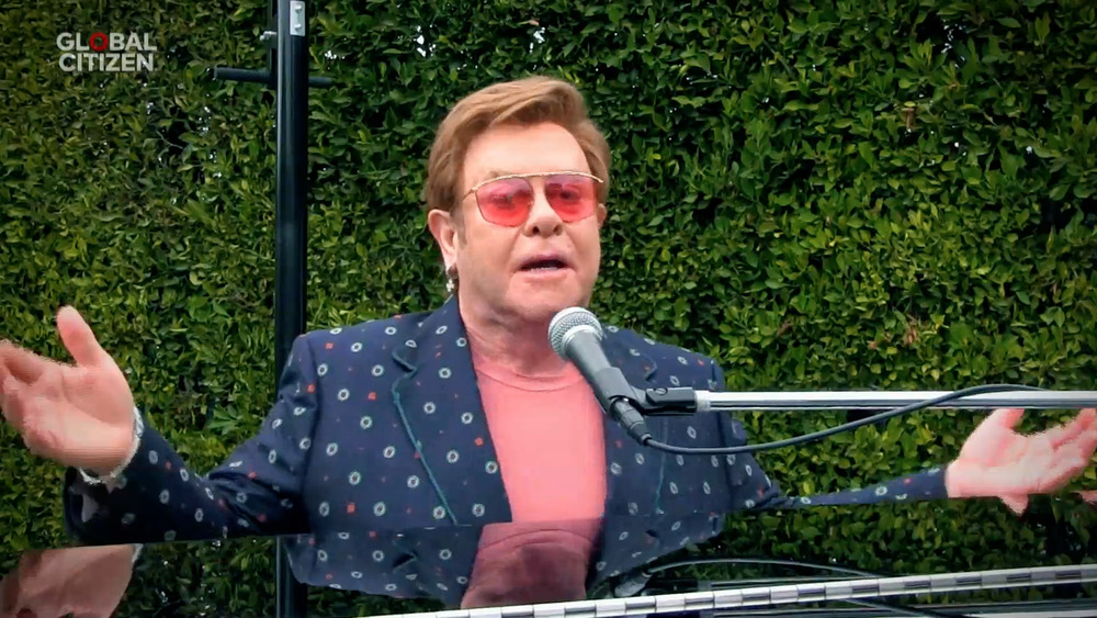 Elton John and microphone