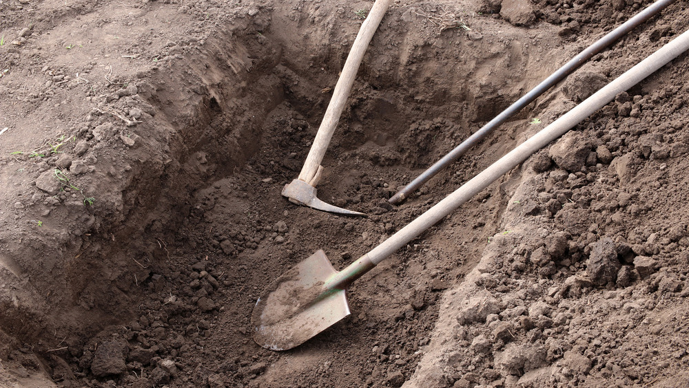 a grave being dug