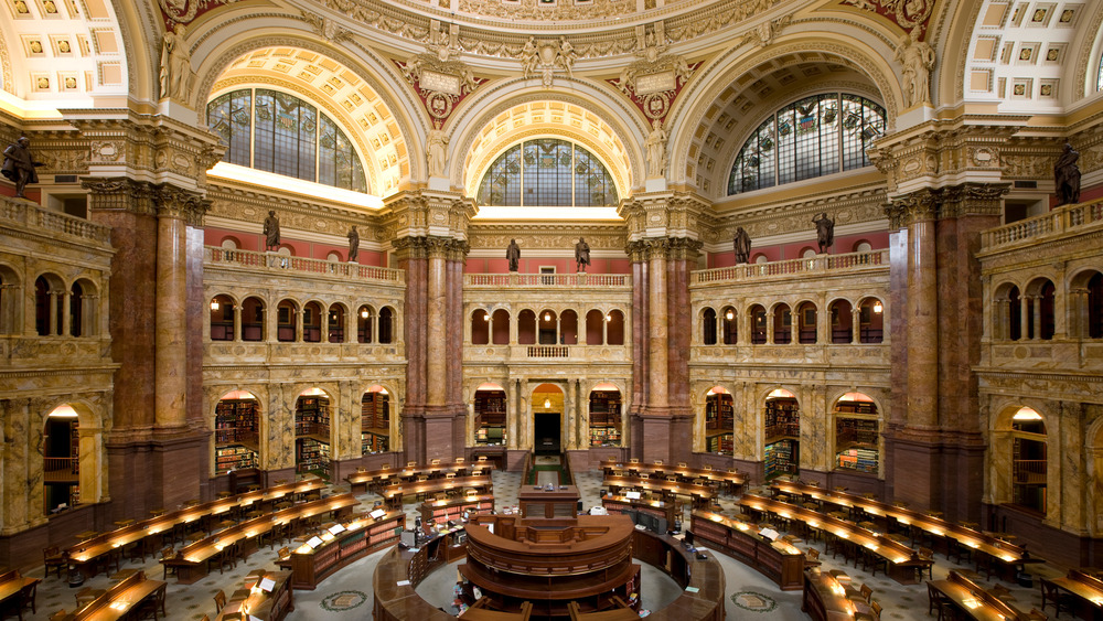Main Reading Room of the Library of Congress in the Thomas Jefferson Building