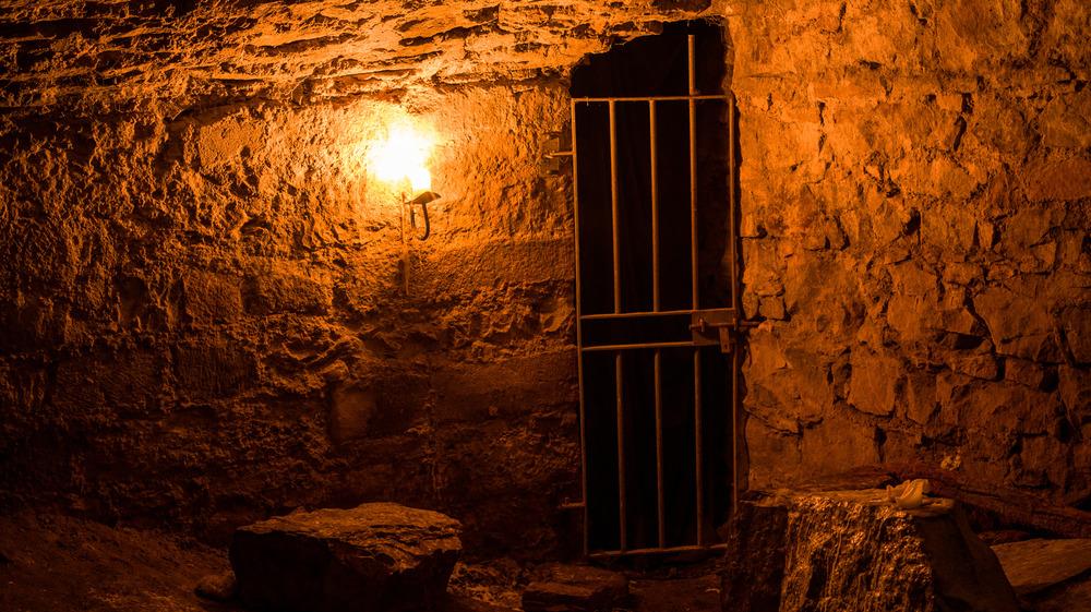 An underground cave prison