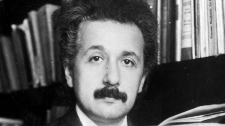 Albert Einstein posing