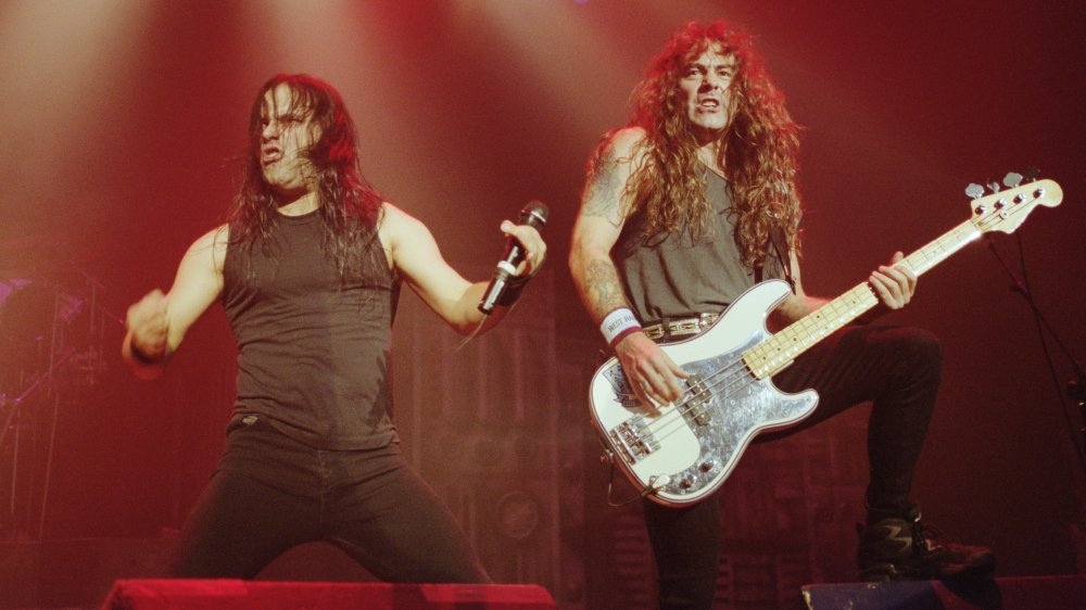 Blaze Bayley and Steven Harris of Iron Maiden, 1995