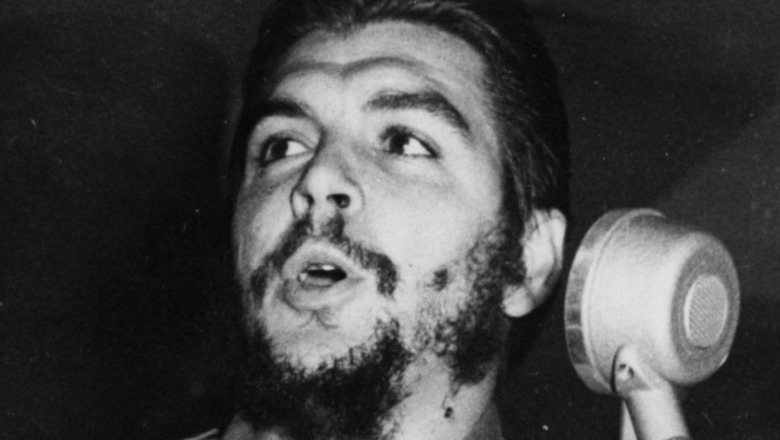 Che Guevara at the microphone