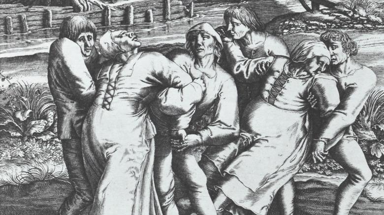 engraving of choreomania