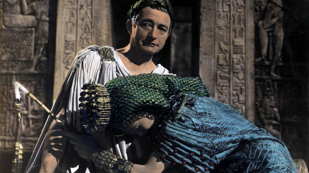 Cleopatra and Caesar portrayed by Vivien Leigh and Claude Reins