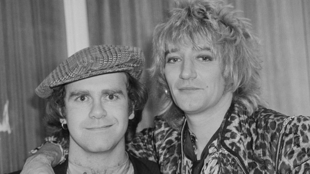 Elton John and Rod Stewart in 1978
