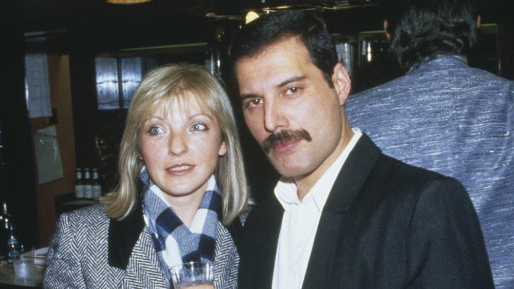 Freddie Mercury with Mary Austin