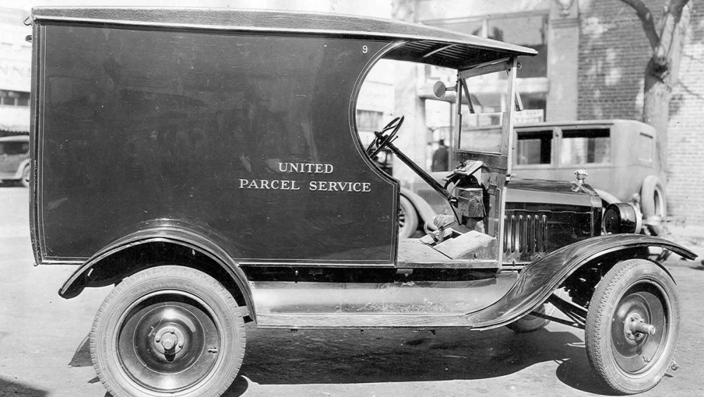 Early UPS delivery vehicle