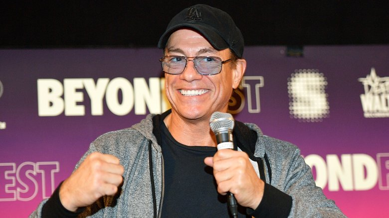 Jean-Claude Van Damme and a fist that may or may not have been in someone's crotch