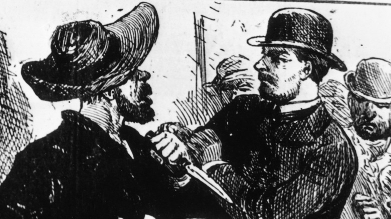 1889 depiction of Jack the Ripper