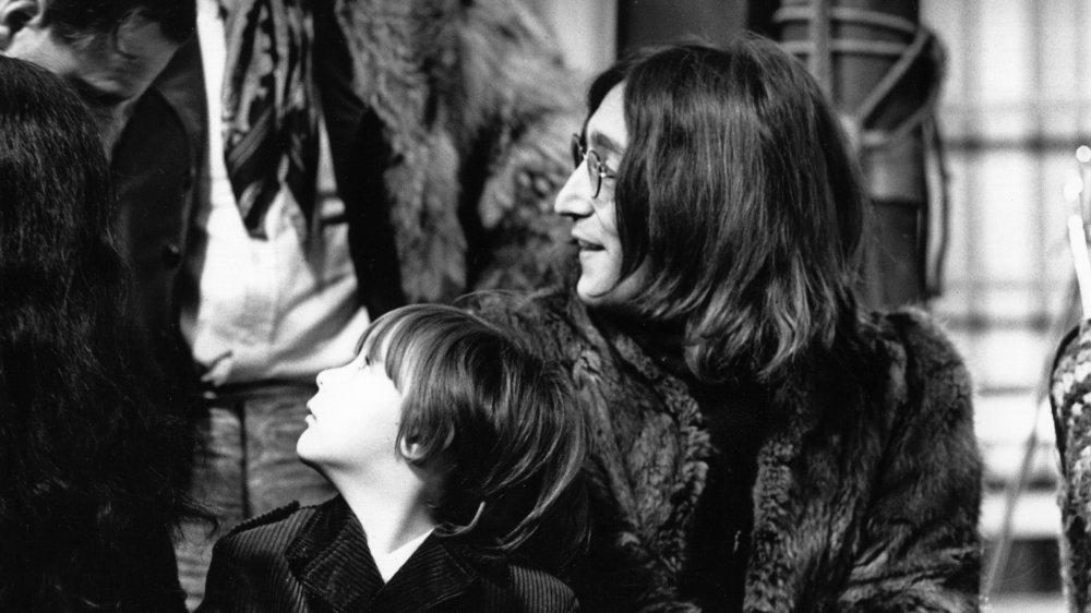 John Lennon with his son Julian