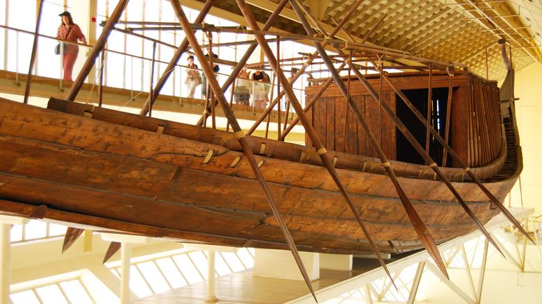 Solar Boat museum display