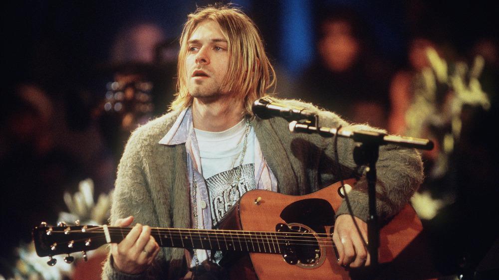 Kurt Cobain playing guitar, 1993