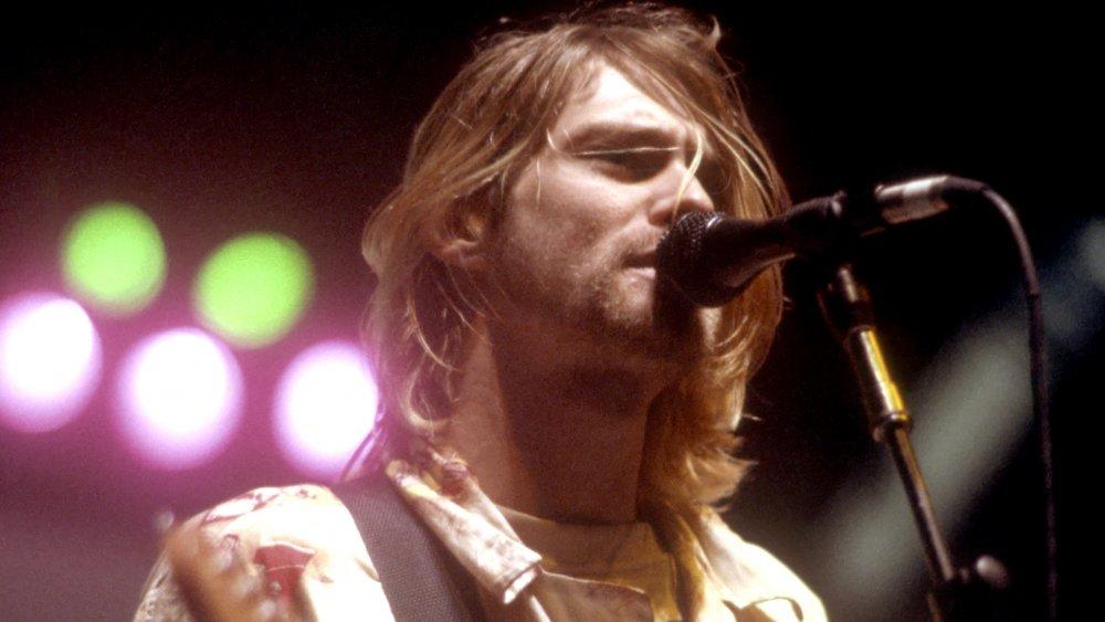 Kurt Cobain in pyjamas