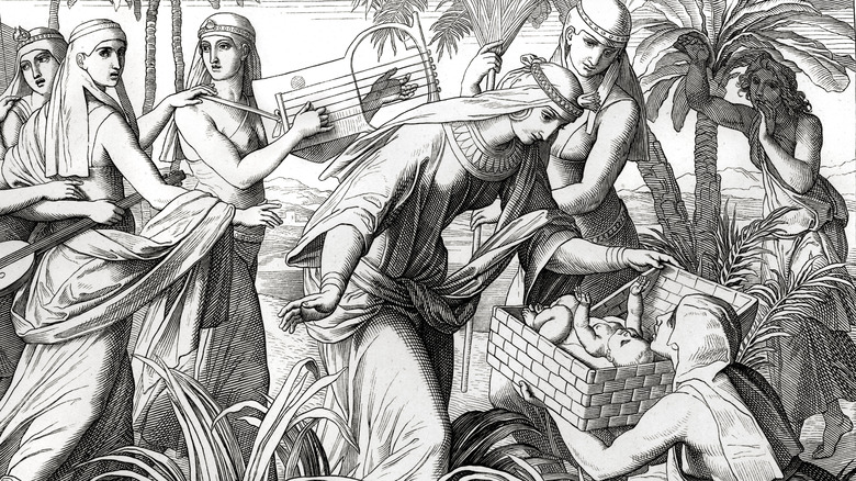 Miriam and Pharaoh's daughter
