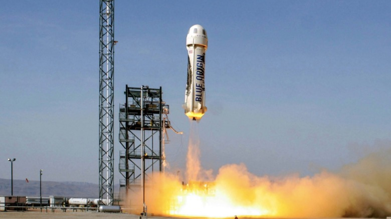 Blue Origin rocket taking off