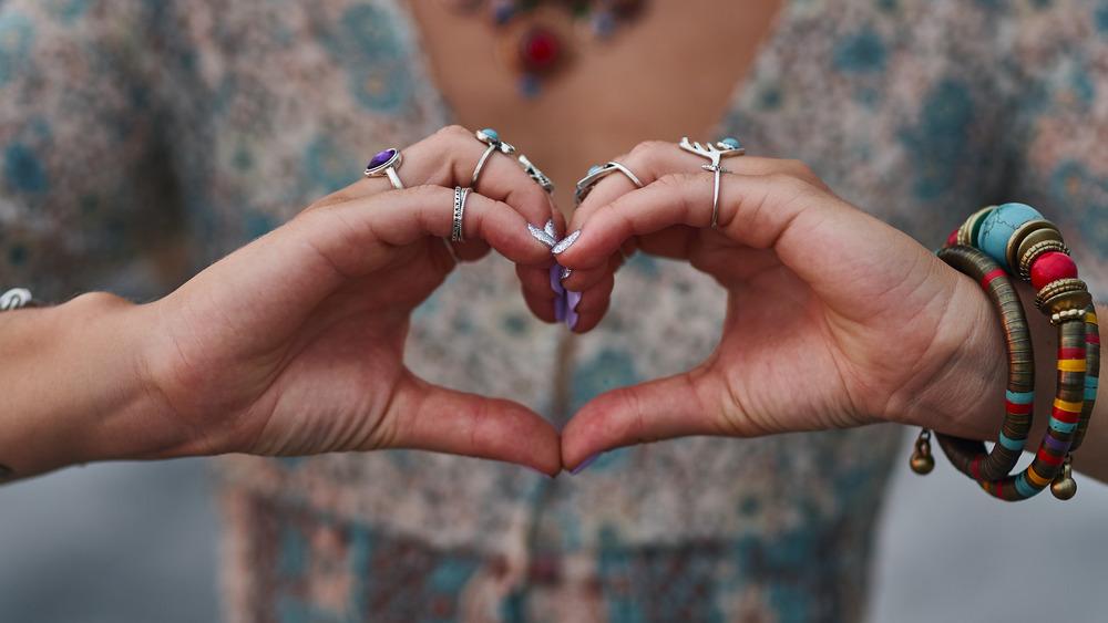 Boho hippie love sign