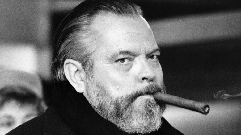 Orson Welles smoking cigar