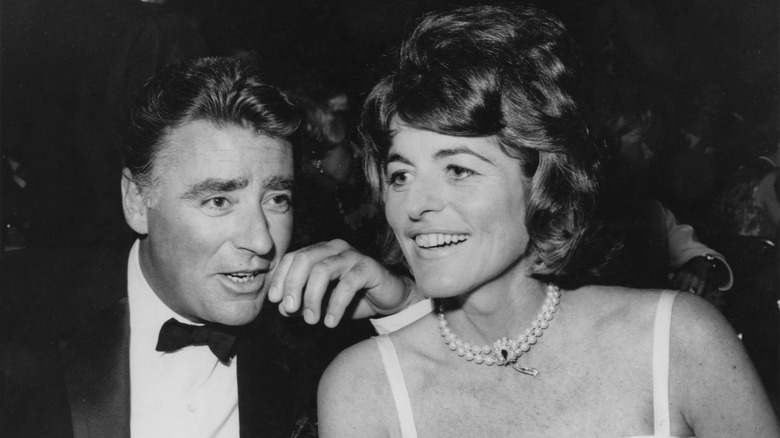 Peter Lawford and wife, Pat Kennedy