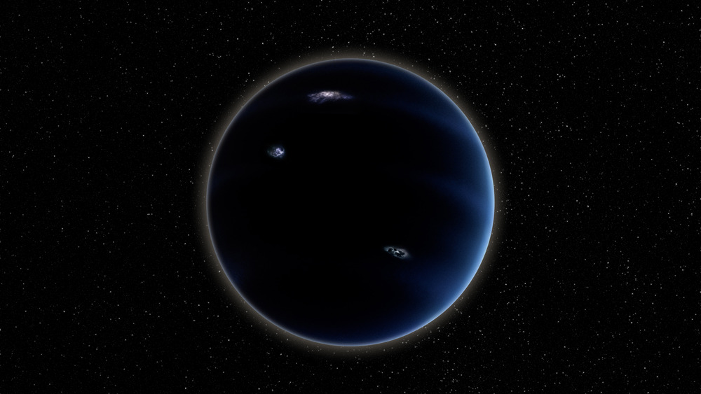 rendering of hypothetical Planet Nine