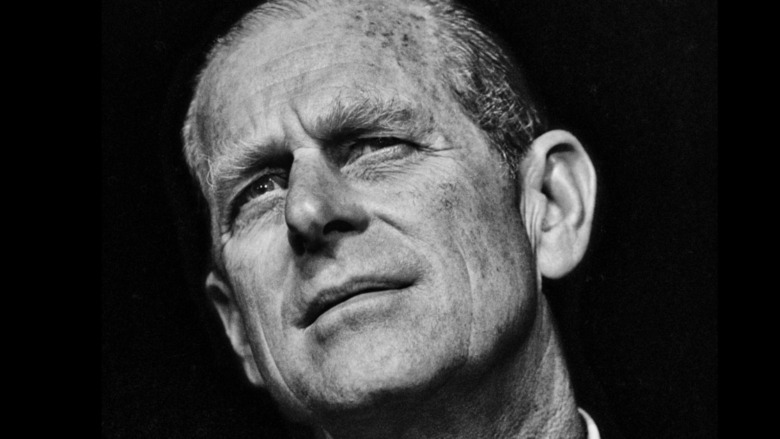 Black and white photo of Prince Philip