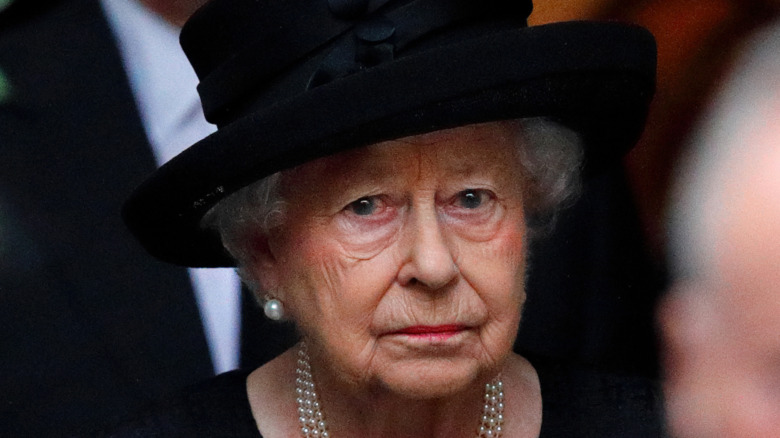 Queen Elizabeth in mourning