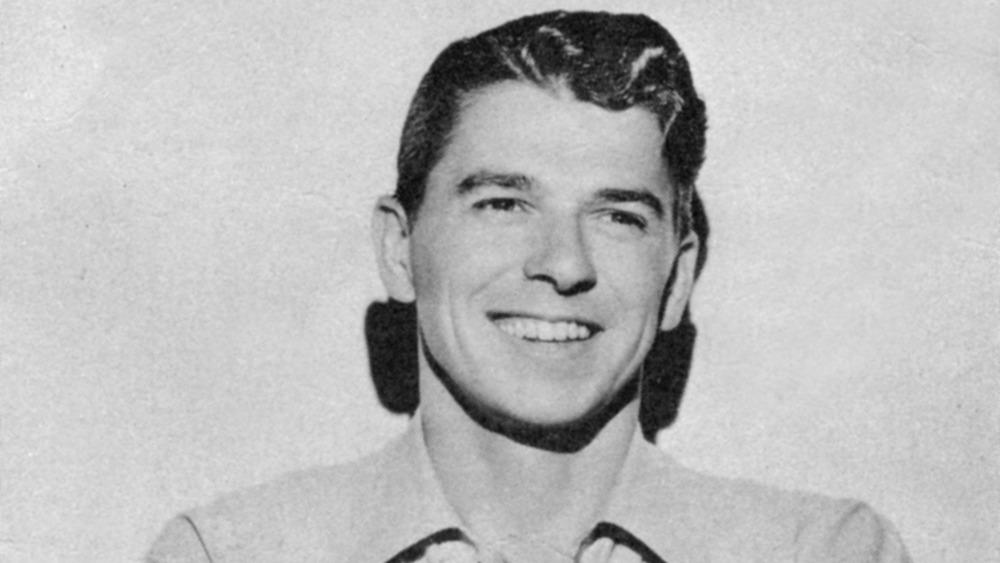 Young Ronald Reagan smiling