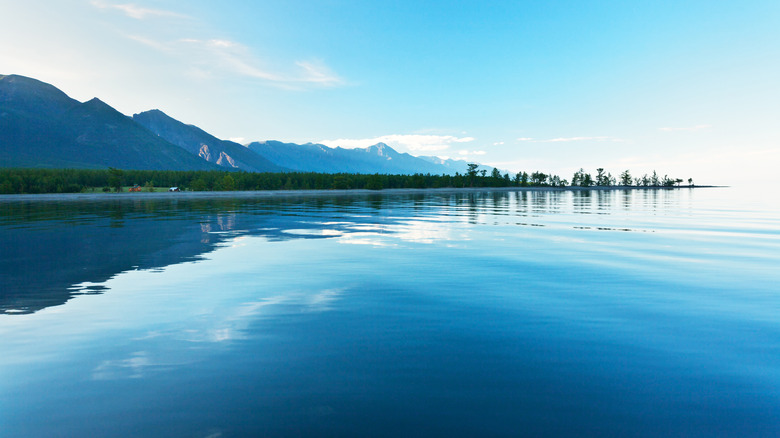 Lake Baikal in the summer