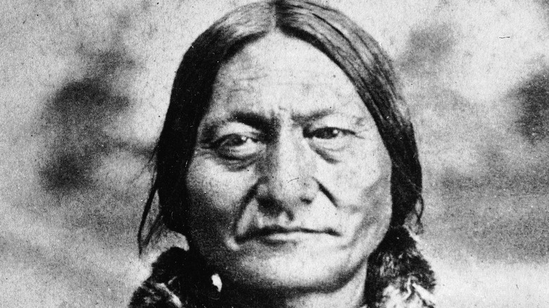 Sitting Bull posing for portrait