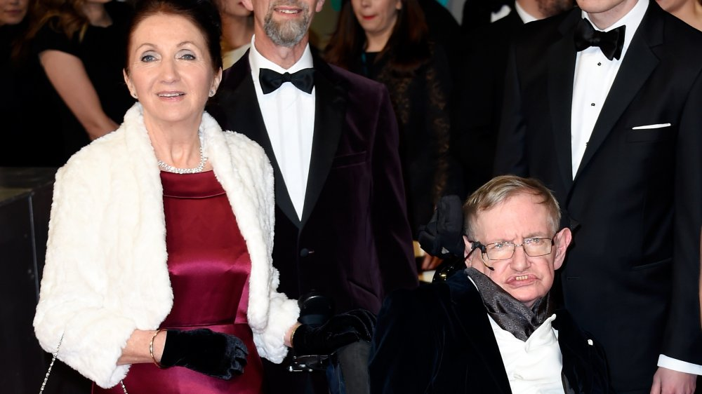Stephen and Jane Hawking at a gala