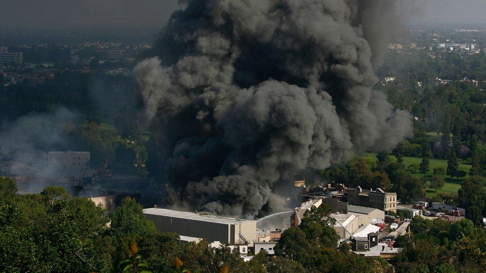 Fire at Universal Studios backlot