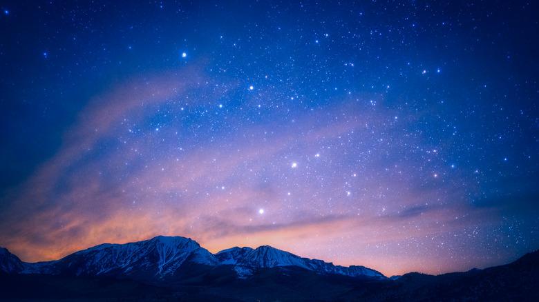 Milky Way galaxy sky view