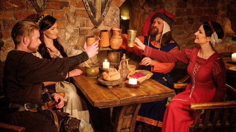 Dining in medieval style