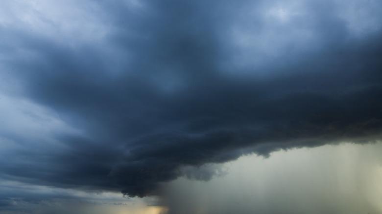 A cyclone storm cloud
