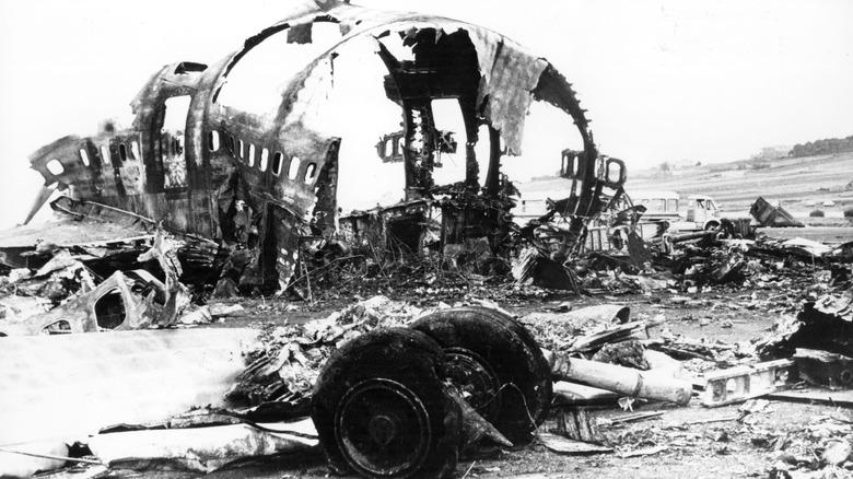 Tenerife Plane wreckage