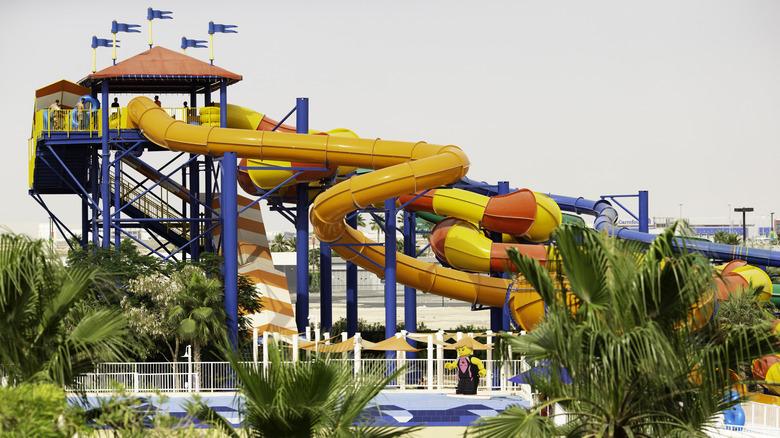 a waterpark slide