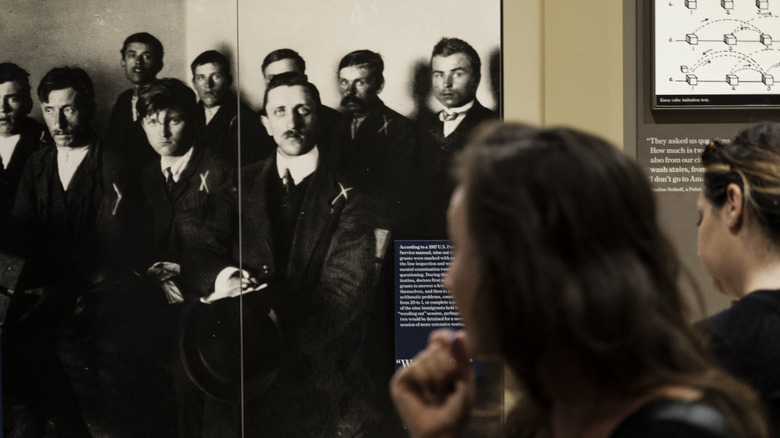 touring the ellis island museum