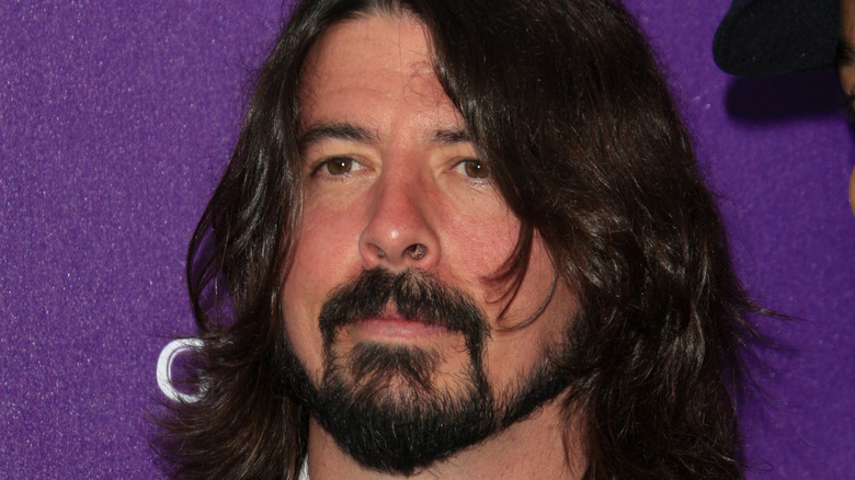 Dave Grohl looking serious